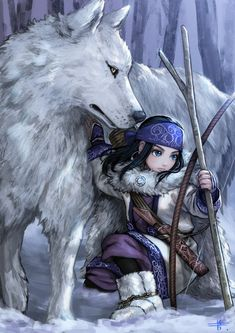 Golden Kamuy Archives - Taylor Hallo - Taylor Swift taking show anime and movies Anime Wolf, Manga Anime, Anime Art, Fantasy Creatures, Mythical Creatures, Couple Drawings, Art Drawings, Character Art, Character Design