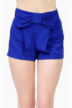 Royal Blue Gossip Shorts