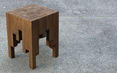 shou sugi ban stool