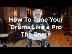 This video will teach you how to tune your drums like a pro. In this video, I will show you how to change heads and tune the snare top and bottom. Drum Lessons, Music Lessons, Guitar Art, Music Guitar, Drum Tuning, Saxophone Instrument, Nirvana Lyrics, Drum Parts, Les Paul Custom