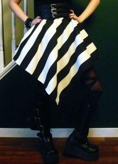 Jumbo Stripe Circus Steampunk Goth Skirt Victorian by SepiaBlood, $25.00