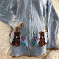 Storybook Sweaters | New Hsn Storybook Knits Sweater Cardigan Dog | Poshmark
