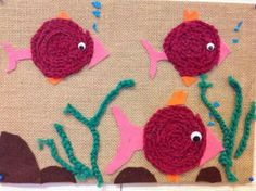 Fish Crafts, Crafts To Do, Yarn Crafts, Crafts For Kids, Arts And Crafts, Recycled Crafts, Easy Crochet, Textile Art, Handicraft