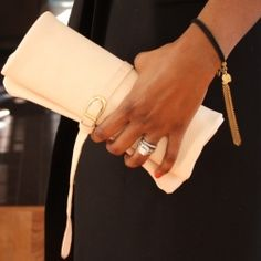 DIY Rochas inspired rolled leather clutch
