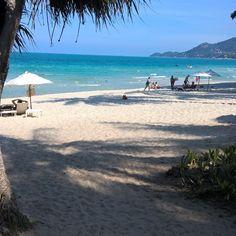 Das Hotel ist fast voll trotzdem jede Menge Platz am Strand #chawengbeach #centaragrand #beach