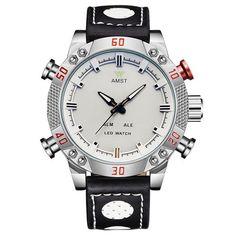 a15592e6947 AMST esporte Exército relógios moda multifunções dupla afixação eletrônico  à prova d  água luz ao