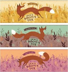 Quick Brown Fox beer, a playful concept by Bree Lundberg