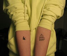 Bird out of cage tattoo, I think i would want to make it so the bird was flying out of the cage though