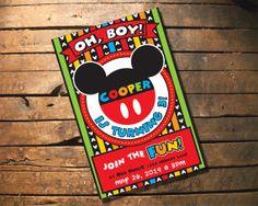 Child Birthday Invitation - Mickey Mouse