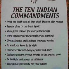 Native commandments