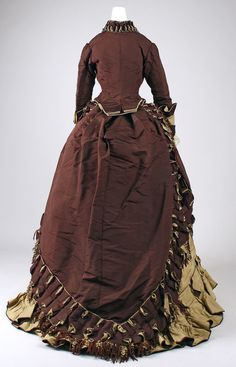 Visiting dress Designer: Emile Pingat (French, active 1860–96) Date: ca. 1872 Culture: French Medium: silk