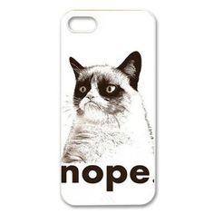Treasure Design Funny NOPE - Grumpy Cat APPLE IPHONE 5 Best Durable Case #GrumpyCat #iPhone5cases