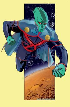 Not a big fan of the black bodysuit but the overall design is good- Martian Manhunter