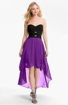 Hailey by Adrianna Papell Strapless High/Low Dress (Online Only) available at #Nordstrom