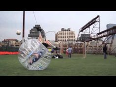This looks like a blast. I think I'd need knee pads. I'ts like being your own bowling ball. Best of bubble ball