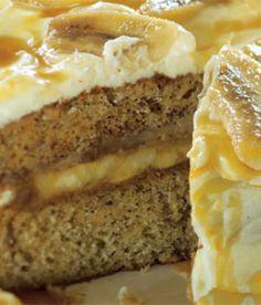 Banánový dort! Mňam! Homemade Cakes, Banana Bread, French Toast, Recipies, Favorite Recipes, Breakfast, Paradise, Food, Pies