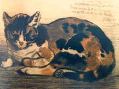Steinlen  1898  Le Petit Chat  Dry-point etching with color on copper