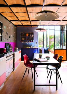 Kitchen - multicolored | Antoine and Louise Pradels via Marie Claire Maison
