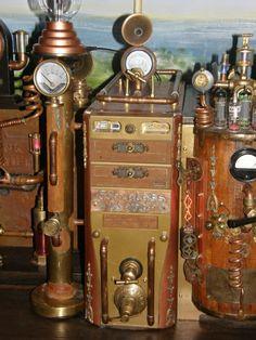 Steampunk Computer-Station (Detail)