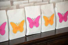 Butterfly favor bags