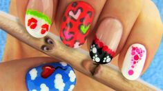 Toothpick Nail Art. Nail tutorial using a toothpick to make 6 cute, but easy nail art designs. Perfect nails for nail art beginners and for the upcoming Valentine's Day.