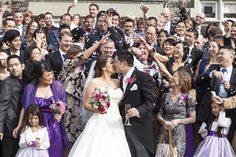 This couple had the extra luck of 1,000 paper cranes on their gorgeous day!