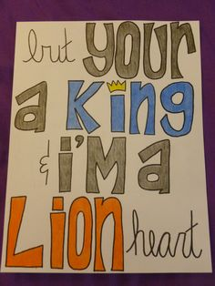 Howling ghosts they reappear in mountains that are stacked with fear, but you're a king and I'm a lion heart.