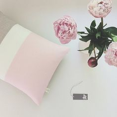 2016 Pantone Colorblock Pillow Covers Rose by JillianReneDecor