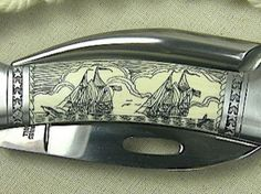 Love this Camel Bone Scrimshaw Rigging Knife by Sam McDowell! If only I had someone to buy it for... $425
