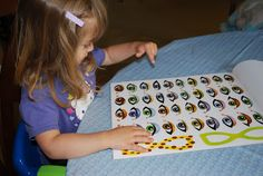 Building Fine Motor Skills with Stickers