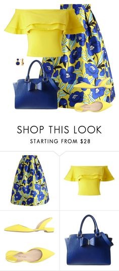 """""""Blue and  Yellow"""" by daiscat ❤ liked on Polyvore featuring Chicwish, Miss Selfridge, Paul Andrew, Lipsy and Allurez"""