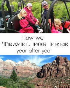 How our family travels for FREE year after year. We have gone on many vacations free of charge, here is how we've done it and you can too!