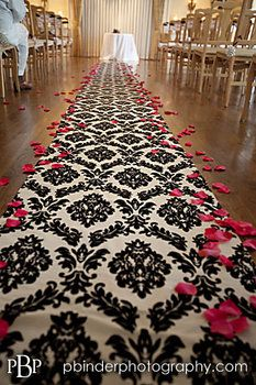 Wedding, Ceremony, Black, Damask