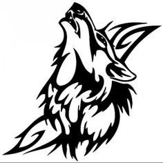 60 Awesome wolf tattoos + more about the meaning of wolves. Designs include tribal and howling wolves, wolf head and paw tattoos. Lobo Tribal, Arte Tribal, Tribal Art, Tribal Style, Tribal Wolf Tattoo, Wolf Tattoo Design, Tattoo Designs, Tattoo Maori, Celtic Tattoos