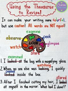 Anchors Away Monday:  Using a Thesaurus to Revise! (Not all synonyms are created equal.)