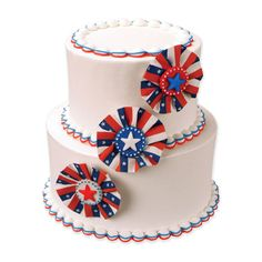 4th of July wedding cake