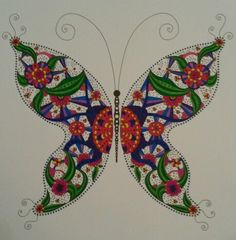 Mindfull kleuren Vlinder