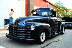 1952 Chevy Truck by Chad Horwedel, via Flickr Incredibly shiny, all black grille, beautiful clear coat.