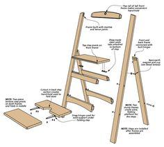 Best 2076 Folding Step Stool Plans Furniture Plans Step 400 x 300