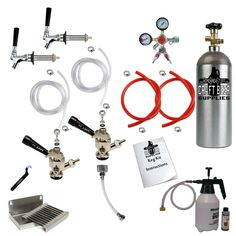 liquor and beer dispensers 2tap kegerator conversion kit doormount homebrew draft beer co2 y