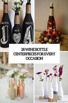 wine bottle centerpieces | Picture Of wine bottle centerpieces for every occasion cover