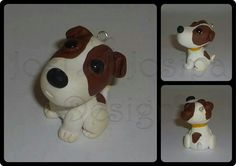 Jack Russel Terrier Pendant - polymer clay