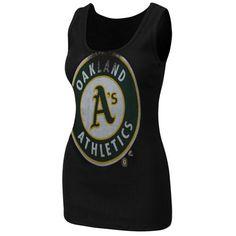 Majestic Oakland Athletics Ladies Must Win Tank Top - Black