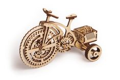 Bicycle - wooden Puzzle for children and adults. 3d Puzzles, Puzzles For Kids, Wooden Puzzles, Wooden Toys, Creative Thinking Skills, Wooden Bicycle, Birch Ply, Laser Cut Wood, Diy Toys