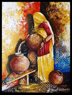 The shy one Art Print by Sonali Mohanty. All prints are professionally printed, packaged, and shipped within 3 - 4 business days. Indian Art Paintings, Modern Art Paintings, Realistic Paintings, Rajasthani Painting, Rajasthani Art, Art Indien, Indian Contemporary Art, Art Assignments, Fusion Art