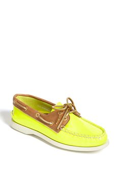 Neon yellow boat shoes - Love!