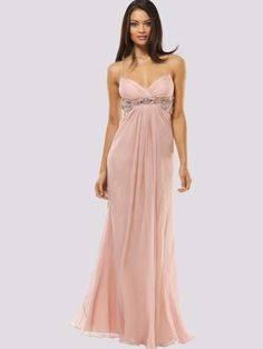 Spaghetti Straps Beading Sleeveless Floor-length Chiffon Prom Dresses Cheap Prom Dresses Online, Unique Prom Dresses, Strapless Dress Formal, Bridesmaid Dresses, Wedding Dresses, Chifon Dress, Dusty Rose Dress, Pretty Outfits, Just In Case