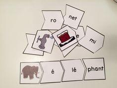 Mon activité de casse-tête sur les mots à 2 syllabes a eu tellement de succès avec mes élèves (et mes clients) que j'ai décidé d'en créer un...