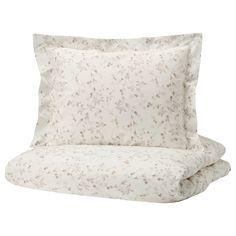 STRANDFRÄNE Dekbedovertrek met 1 sloop - wit, lichtbeige - IKEA Bedroom Bed, Master Bedroom, Linen Bedding, Bedding Sets, Ikea Family, Quilt Cover Sets, Light Beige, Bed Pillows, Yurts