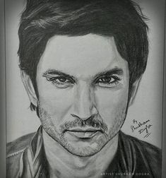 """Artist Shubham Dogra on Instagram: """"Deeply saddened & shocked to hear about the death of Sushant 😢😢😢 Can't believe he committed suicide due to depression. People hide so many…"""" Pencil Sketch Portrait, Pencil Sketch Drawing, Girl Drawing Sketches, Portrait Sketches, Art Drawings Sketches Simple, Drawing Art, Thor Drawing, Abstract Pencil Drawings, Realistic Pencil Drawings"""